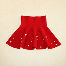 54830c56b5 ... 2018 New Fall and Winter Children's Clothing Girls Fashion Casual Knit  Skirt Bottoming Pearl Princess Tutu ...