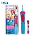 BRAUN Oral B D12513K Дети Электрическая Зубная Щетка Зубы Чистыми Водонепроницаемый Безопасности Подзарядки Зубы щеткой для Девочек в Возрасте От 3 +