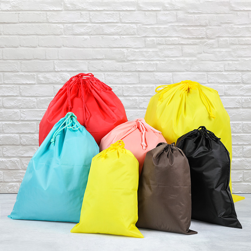 3 Size Colorful Waterproof Drawstring Bag Shoes Underwear Travel Sport Bags Nylon Bags Organizer Clothes Packing Logo Pinted
