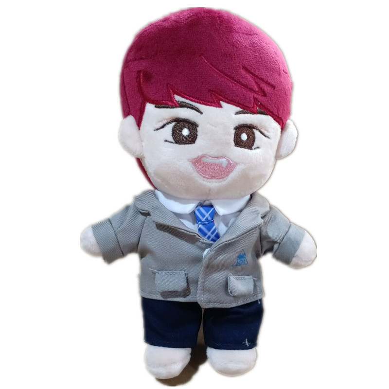 KPOP Wanna One Park Woo-Jin Plush Toy Stuffed Doll with Clothes Full Set Handmade Gift Produce 101 Concert Collection