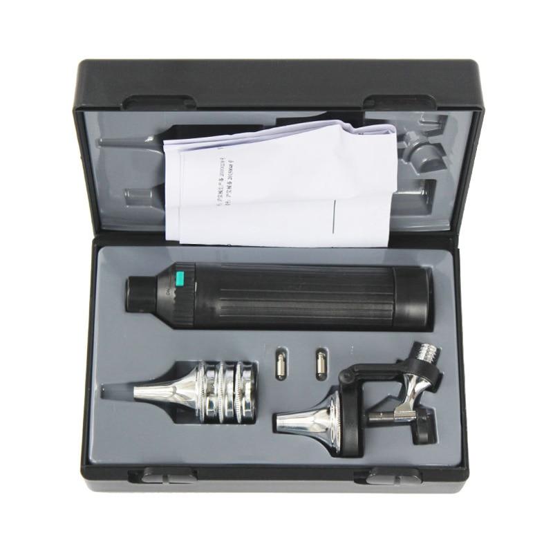 Kit de otoscopio medido para el cuidado de los oídos multiusos/Set de detección de espéculo para lámpara de hendidura de oftalmoscopio-in Cuidado del oído from Belleza y salud    2