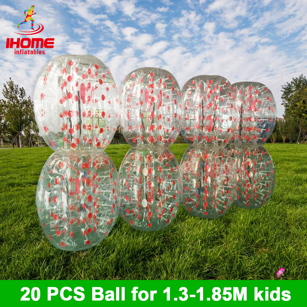 20PCS  Balls + 2PCS Electric Pump Bubble Balls PVC Inflatable Bubble Soccer Football Ball  Bubble Ball For Group Building