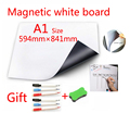A1 Größe Magnetische Schule Weiß Bord Kühlschrank Magneten Wand Aufkleber Whiteboard für Kinder Home-Office Dry-erase Board Weiß boards