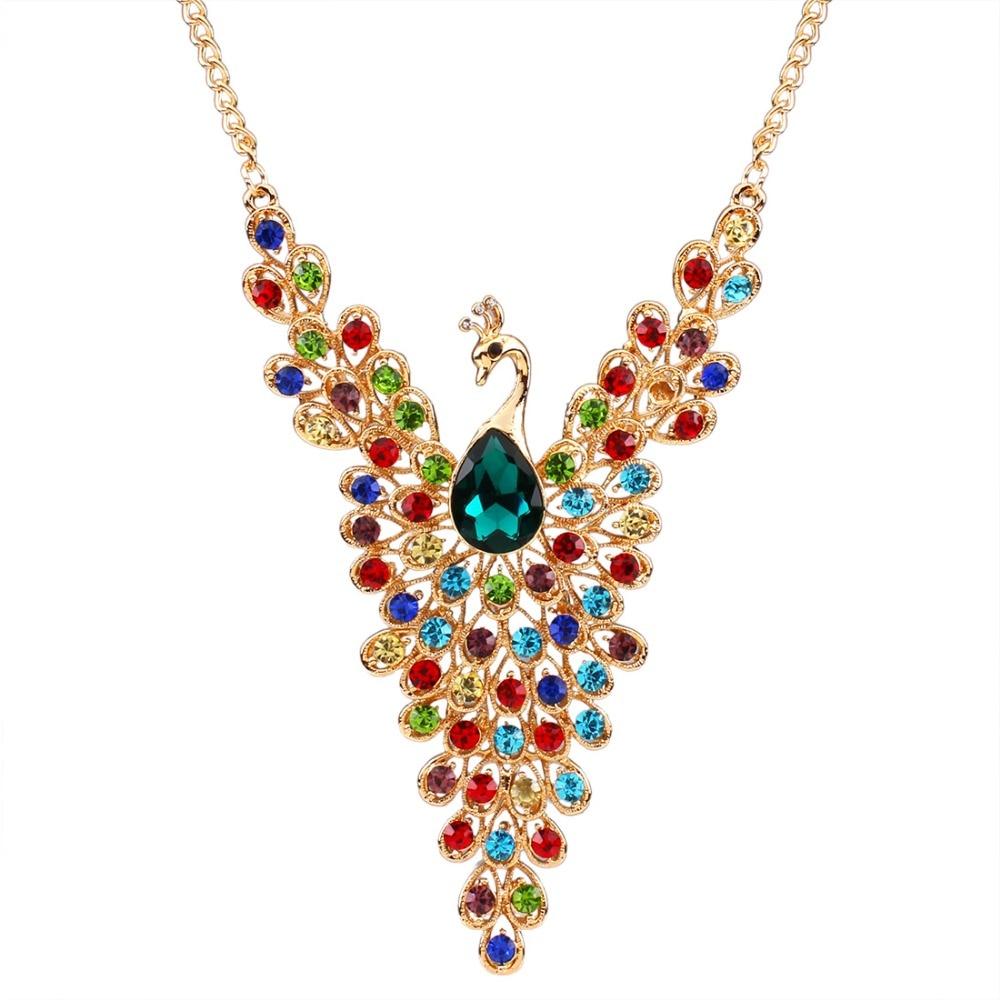 Peacock Design Chain Necklaces