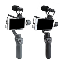 цены OSMO Mobile 2 1 Cardioid Directional Condenser Video Microphones Mic + Universal Mount For DJI OSMO Mobile Plus DSLR Camera