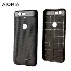 AIORIA Souple étui pour huawei Nexus 6P Dot motif En Caoutchouc silicone matériau de polyuréthane thermoplastique Solide couleur Noire