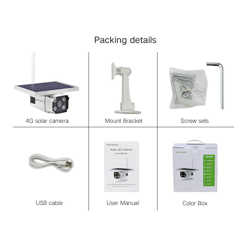 YN88 4G Solar IP Camera 2.0MP Wireless GSM 4G SIM Card Outdoor Security CCTV Camera with Solar Panel Charging Built-in battery