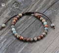 Natural King Jasper Adjustable Bracelets Handmade Boho Natural Stone Friendship Bracelet Manufacturer Wholesaler