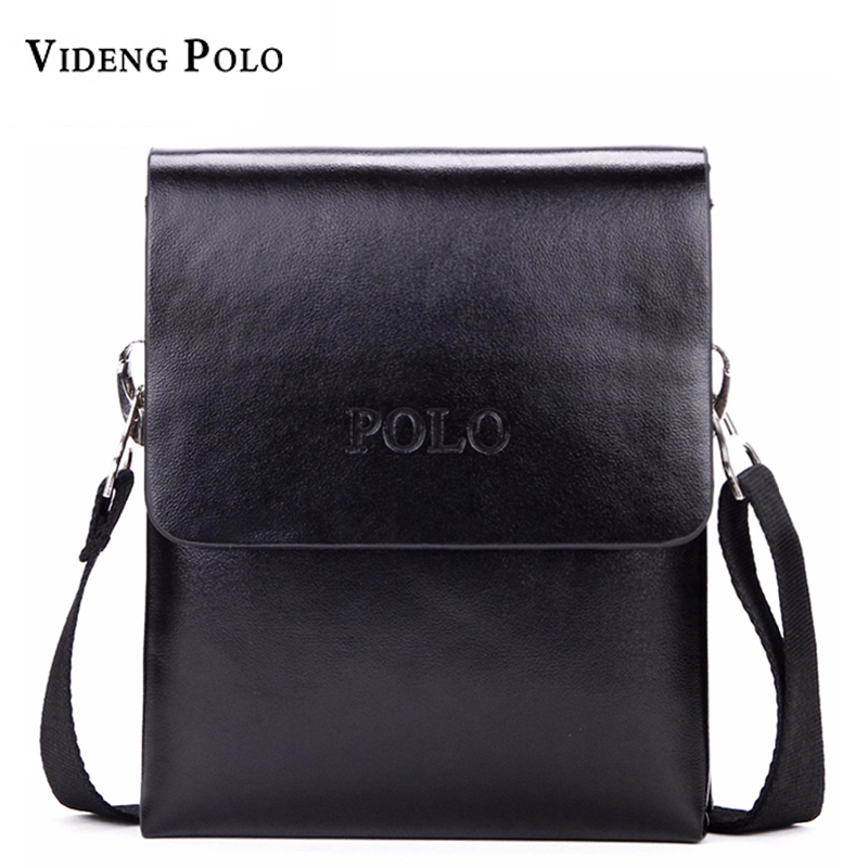 New POLO brand Fashion Business Men Shoulder bag designer handbag leather bag men messenger crossbody bags bolsas casual men bag