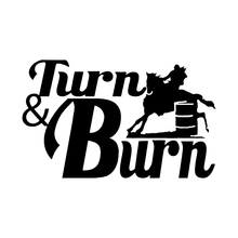 Barrel Racing Cowgirl Rodeo Western Horse Truck Window Vinyl Decal Sticker