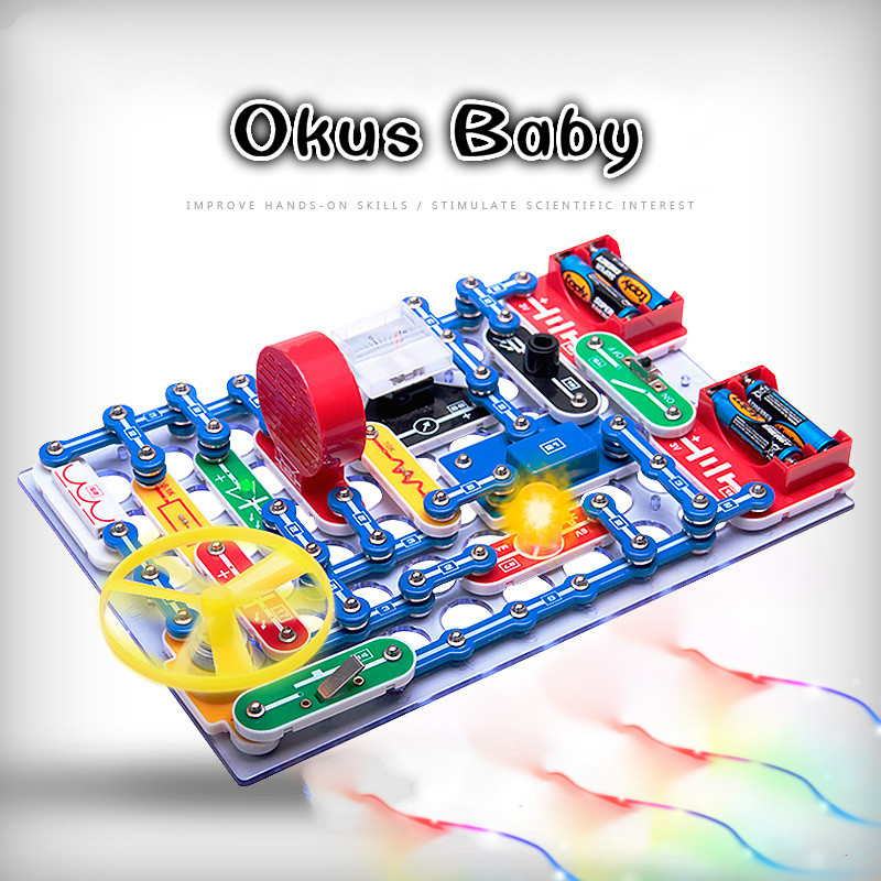 Brand New 199 Kinds Compound Mode Switch Circuits Electronics Discovery Kit Electronic Assembling Toys for Kids цена