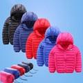 2016 niños Del Invierno chaqueta de los muchachos de la manera del algodón con capucha chico cabritos de la capa outwear caliente modelos delgadas enviar bolsa 16A12