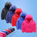 Jaqueta de Inverno 2016 das crianças meninas da forma dos meninos casaco de algodão com capuz crianças jaqueta menino outwear quente modelos finos enviar pouch 16A12