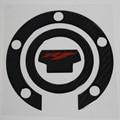 Fibra de carbono combustível gas tank cap gasolina pad protector adesivo decalque emblema universal para yamaha yzf-r1