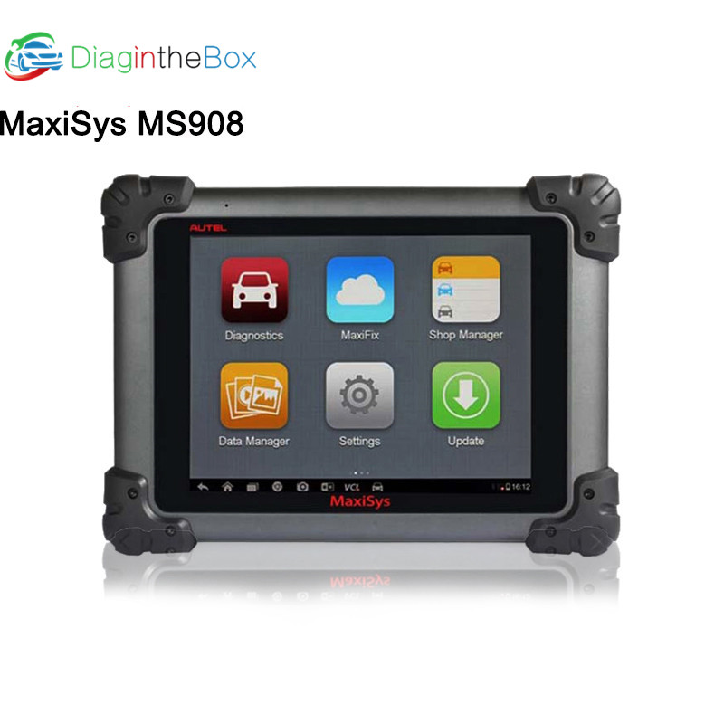 Autel Maxisys <font><b>MS908</b></font> Automotive Diagnostic Scanner Tool Connected MaxiFlash <font><b>Elite</b></font> J2534 likes MS908P Pro supports ECU programming image