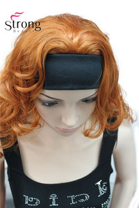 Image 3 - Long WavyBrow n Synthetic HeadBand Wig Ladies 3/4 Wigs With headband Women Full Wigs COLOUR CHOICES