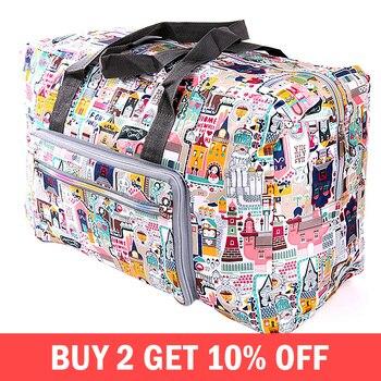 מתקפל עגלת נסיעות שקיות ארגונית נשים רוכסן בגדי אריזה קוביות מזוודות דובון תיק אביזרי אספקת מוצרים