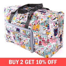 Foldable Trolley Travel Bags Organizer Women Zipper Clothes Packing Cubes Luggag