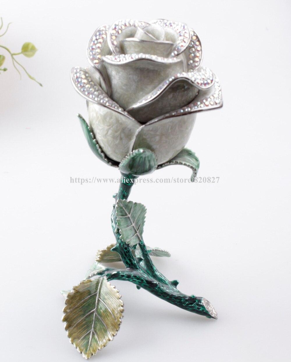Princesse rose fleur métal vintage boîte à bijoux bijoux affichage emballage classique mode chic porte-bijoux