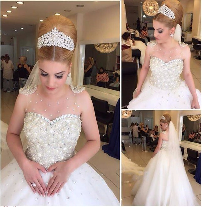 Jeweled Ball Gown Wedding Dresses: 2016 Best Selling Elegant Wedding Dresses Princess Crystal