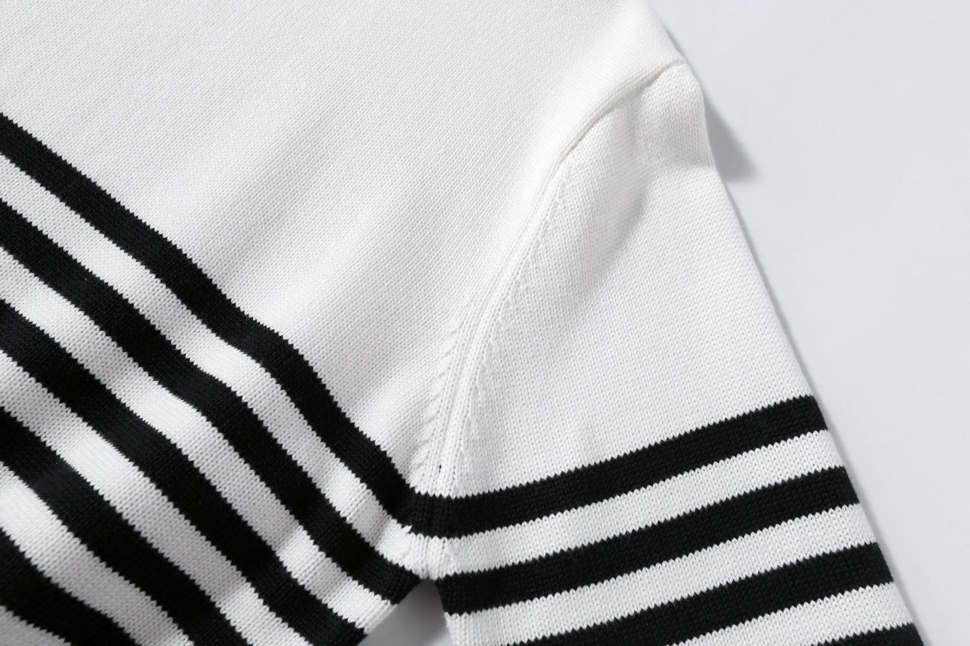 Cardigans Kpop Bts Bangtan Boys Jungkook Same Paragraph Men And Women Stripe Turtleneck Sweater Harajuku Coat Korean Clothes Streetwear