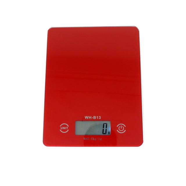 2017 Musculation Cooking Tool Red Lcd Digital Kitchen Scale Touch