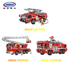 NEW XINGBAO City Fire Fighting Series 3 Styles Fire Engine Sets Building Blocks Fire Fighting Truck Model Educational Bricks(China)