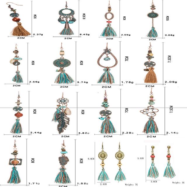 Bohemian Tassel Long Earrings