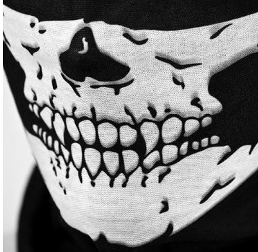 Ring Headband Scarf Tube Ghost-Mask Neck-Warmer Military-Bandana Skull Cosplay Halloween