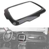 For Jeep Renegade Inner Dashboard GPS Navigation Cover 2015 2016 2017 Car Interior Covers Carbon Black