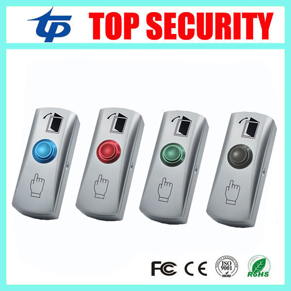 Zinc Alloy Door Button LED light Exit Button Door Push Exit Button Door Access Control Release Exit Switch Door Push Open Button stainless steel exit button wall mount exit button push door release exit button switch for access control