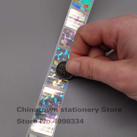 2020mm 1000 pces quadrado holograma diamante laser