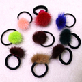 Real Mink Fur Ties Ponytail Holder Hairbands Ponys Headwear Multicolor Lovely Girl Hot Accessories Elastic Hair Bands For Women