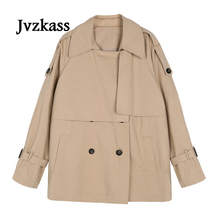 Jvzkass 2018 new spring female Korean version of the tooling long-sleeved short jacket and autumn loose Z146