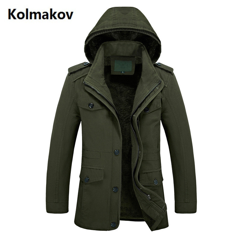 2017 new style Men's fashion leisure thicken hooded jacket Men's high quality Hat removable trench coat jackets men windbreak