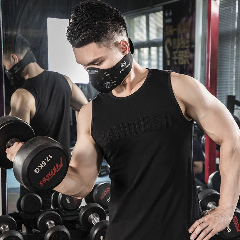 Fitness 2019 Gyms   Tank     Tops   Men Elastic Cotton Vest O-Neck Gyms   Tank     Top   Men Sleeveless Shirts Muscle Men Fitness   Tops