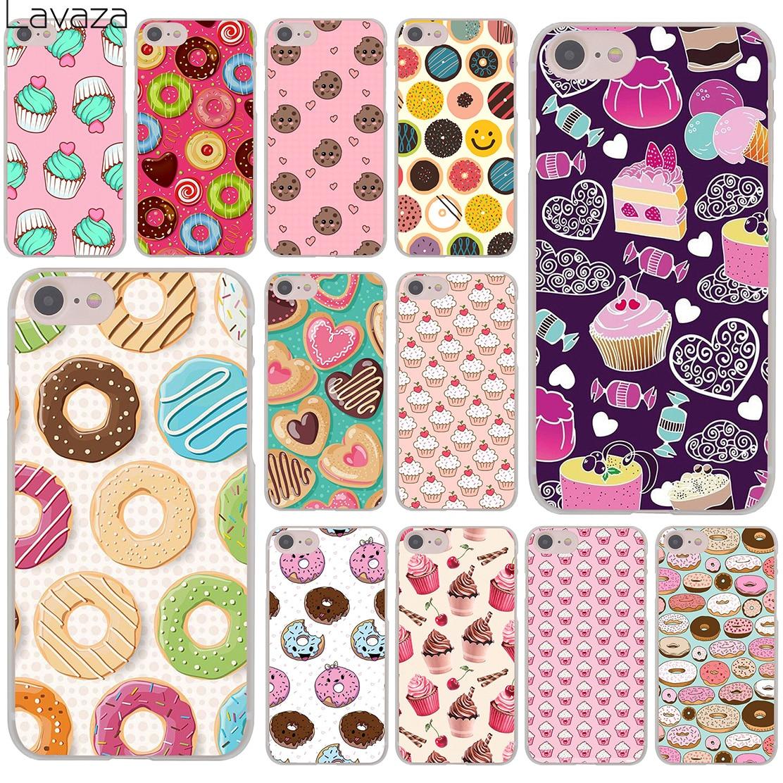 Lavaza Tasty <font><b>Cup</b></font> cake Donuts dessert heart food <font><b>Hard</b></font> Cover <font><b>Case</b></font> <font><b>for</b></font> Apple <font><b>iPhone</b></font> 8 7 6 6S Plus <font><b>5</b></font> 5S SE 5C 4 4S X 10 Coque Shell
