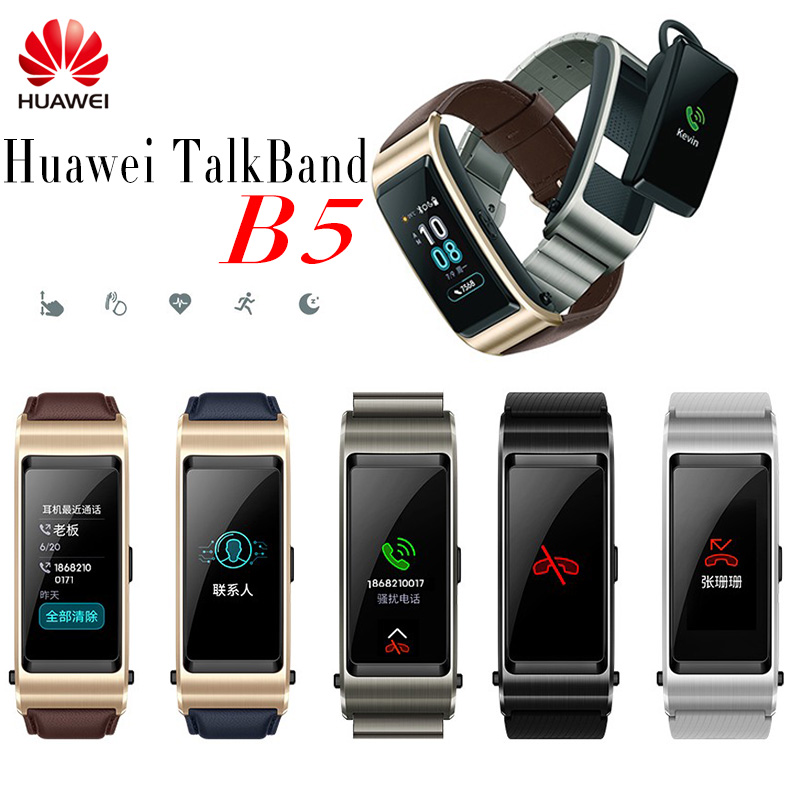 Huawei TalkBand B5 Talk Band B5 Bluetooth Smart Bracelet Fitness Wearable Sports Compatible Smart Mobile Phone