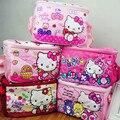 Hello kitty sacos de almoço para as mulheres sacola dos miúdos bagskids almoço saco Para A Escola Ursos Pacote de Piquenique Crianças Almoço Saco Marmita Termica