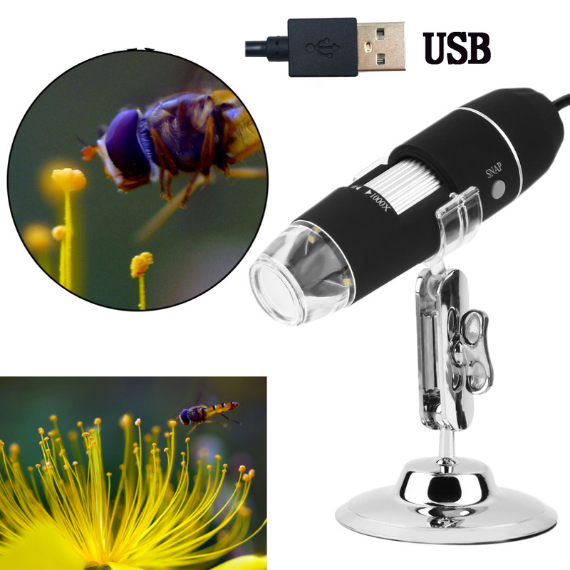 500X 1000X 8 LED Digital Biological Microscope USB Endoscope Camera Microscopio Magnifier Stereo Microscope for Kids portable 400x lens electron digital monocular microscope optical instruments microscope usb endoscope camera microscopio