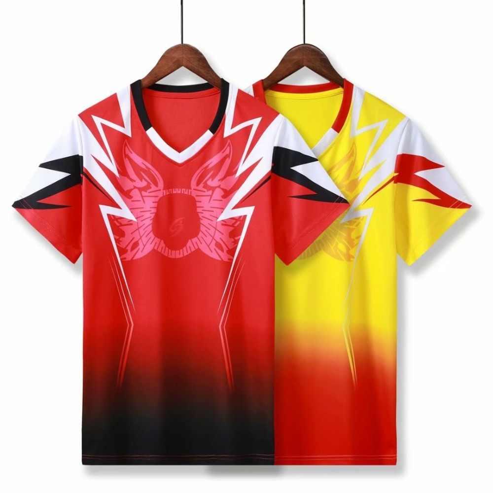 Рубашки для бадминтона для мужчин и женщин быстросохнущие дышащие спортивные теннисные майки футболки топы настольная теннисная футболка занятие по фитнесу футболка