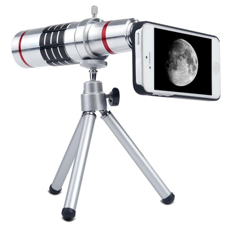 Цена за Orbmart алюминиевый 18X оптический зум камеры телескопа для Samsung S6 S6 края плюс S7 S7 край iPhone 6 6 s плюс с задней чехол