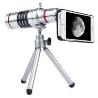 Orbmart alumínio 18X Zoom óptico telescópio lente da câmera para Samsung S6 S6 S7 S7 borda de borda mais 6 6 s Plus com caso