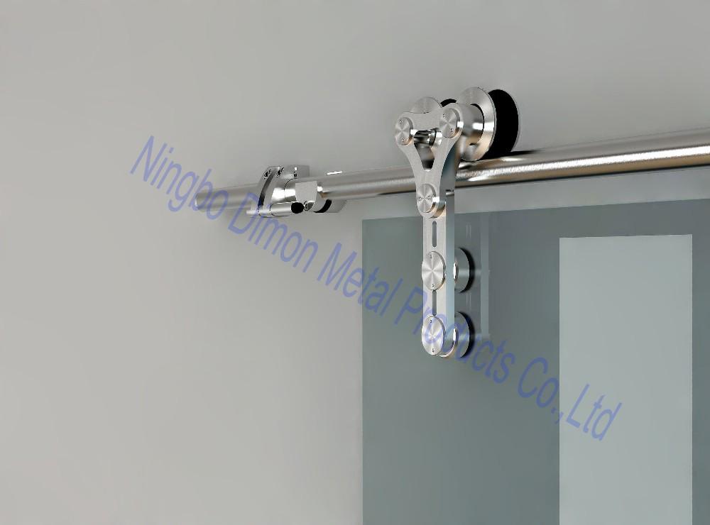 dimon hardware de la puerta de acero inoxidable puerta corredera de cristal hardware estilo amrica dm