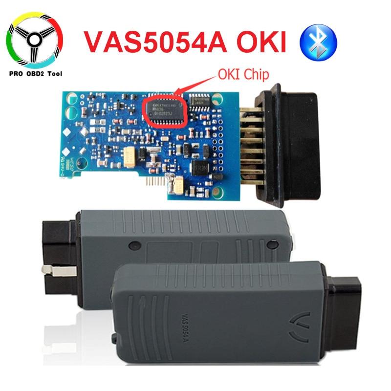Full Chip OKI VAS 5054A ODIS V4.13 Bluetooth VAS 5054 A Car Diagnostic Tool For VW Seat Skoda For Bentley VAS5054A VAG Scanner