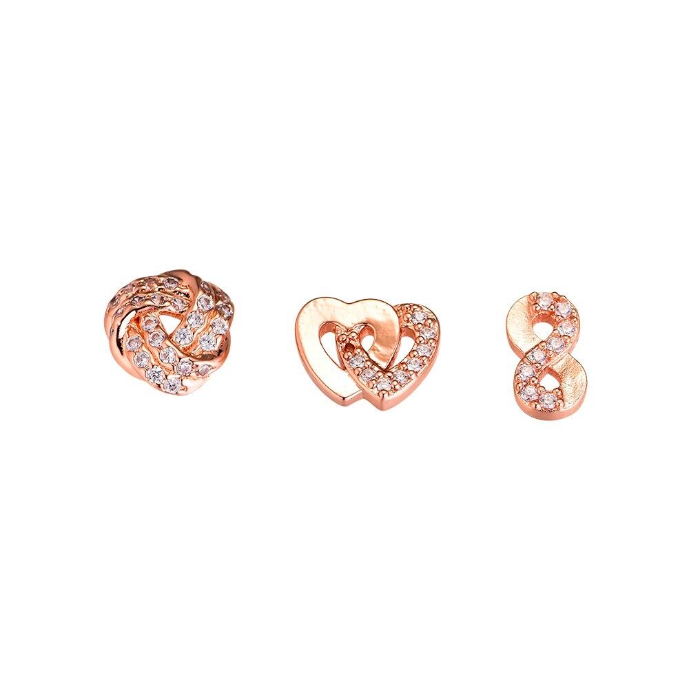 Convient pour collier pendentif médaillon flottant 100% 925 Sterling-argent-bijoux amour infini Petites perles Rose livraison gratuite