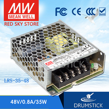 цена на Selling Hot! MEAN WELL original LRS-35-48 48V 0.8A meanwell LRS-35 48V 38.4W Single Output Switching Power Supply
