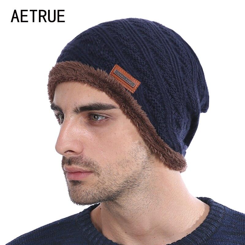 New Winter Hat Men   Beanies   Knit Brand Bonnet Women Winter Hats For Men Caps   Skullies     Beanie   Fur Warm Baggy Wool Knitted Hat 2018