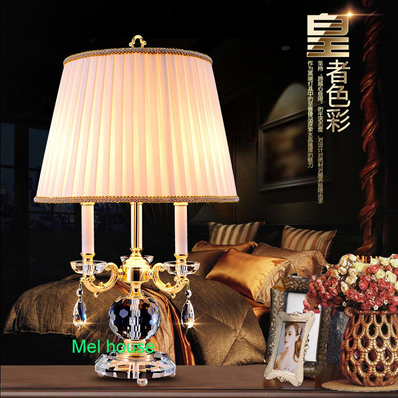 Well-Educated Modern Crystal Lamp Lighting Bedroom Bedside Lamp Luxury Fashion Crystal Table Lamp Abajur Wedding Candelabra Crystal Table Lights & Lighting Led Lamps