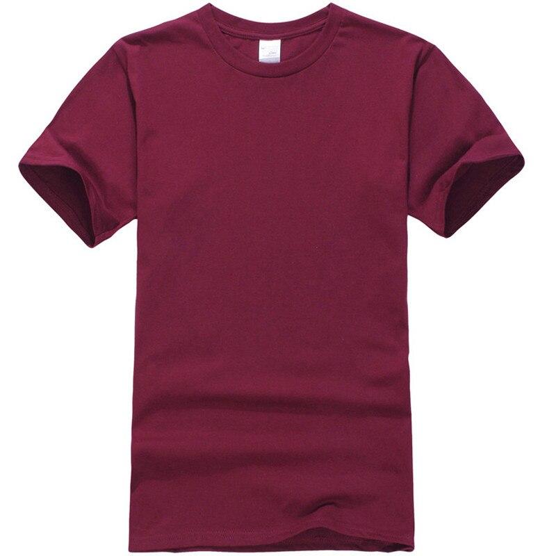 T 2018 camiseta para hombre nueva camiseta de color sólido para hombre blanco y negro 100% algodón 460 #